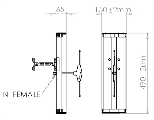 FWS Outdoor Antenna SPECIFICATION ANT04-0404PC