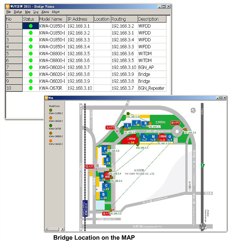 Manage FWS outdoor wireless bridges with Wiview System